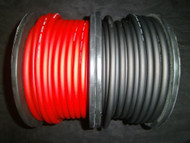 6 GAUGE AWG WIRE CABLE 100 FT 50 BLACK 50 RED POWER GROUND STRANDED PRIMARY