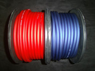 6 GAUGE AWG WIRE CABLE 100 FT 50 RED 50 BLUE POWER GROUND STRANDED PRIMARY