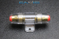 1 PACK AGU FUSE HOLDER 4 6 8 10 GAUGE IN LINE GLASS FUSES AWG WIRE GOLD
