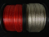 8 GAUGE WIRE 10 FT 5 RED 5 SILVER AWG CABLE POWER GROUND STRANDED PRIMARY AMP