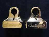 AUDIOPIPE GOLD POSITIVE NEGATIVE 24K BATTERY TERMINAL POST ACCEPTS 0 4 8 GAUGE