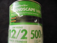 LANDSCAPE WIRE 10 FT SOUTHWIRE 12/2 BLACK STRANDED 100% COPPER OUTDOOR LIGHTING