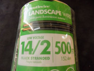 LANDSCAPE WIRE 25 FT SOUTHWIRE 14/2 BLACK STRANDED 100% COPPER OUTDOOR LIGHTING