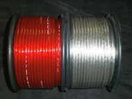 PER 5 FT 8 GAUGE SPEAKER WIRE SILVER RED CABLE AWG STEREO CAR HOME MONSTER SUBS
