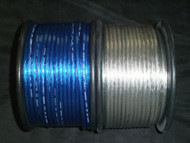 PER 5 FT 8 GAUGE SPEAKER WIRE SILVER BLUE CABLE AWG STEREO CAR HOME MONSTER SUBS