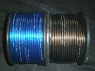 PER 5 FT 8 GAUGE SPEAKER WIRE BLUE BLACK CABLE AWG STEREO CAR HOME MONSTER SUBS