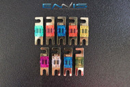 VARIETY 1 EA 9 PCS ALL AMPS MINI ANL FUSE FUSES NICKEL PLATED INLINE AFC MANL
