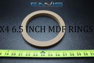 4 MDF SPEAKER RINGS SPACER 6.5 INCH WOOD 3/4 THICK FIBERGLASS BOX RING-6.5R