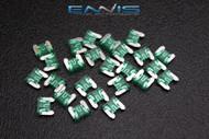 50 PACK ATM LOW PROFILE 30 AMP FUSE FUSES BLADE CIRCUIT 2 LEG MICRO ATMLP30