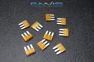 10 PACK ATL 7.5 AMP FUSE BLADE DUAL CIRCUIT COOPER BUSSMAN MICRO 3 LEG ATL7.5