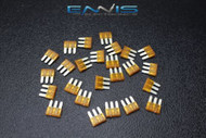 25 PACK ATL 5 AMP FUSES FUSE BLADE DUAL CIRCUIT COOPER BUSSMAN MICRO 3 LEG ATL5