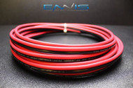 10 GAUGE 25 FT RED BLACK ZIP WIRE AWG CABLE POWER GROUND STRANDED COPPER CLAD EE