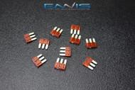 10 PACK ATL 10 AMP FUSE BLADE DUAL CIRCUIT COOPER BUSSMAN MICRO 3 LEG ATL10