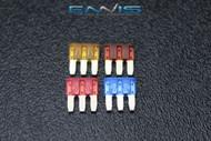 4 PACK 1 EA ATL 5 7.5 10 15 AMP FUSE DUAL CIRCUIT COOPER BUSSMAN MICRO 3 LEG