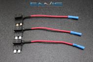 3 PCS ATC ATO BLADE ADD A FUSE TAP CIRCUIT BLOCK PANEL PLUG HOLDER WIRE USA