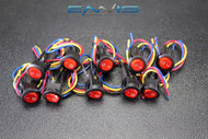 10 PCS ROCKER SWITCH ON OFF RED TOGGLE LED 12V 16 AMP 3 PIN IS-EC-IR1216RED