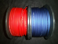 10 GAUGE AWG WIRE 100 FT 50 BLUE 50 RED CABLE POWER GROUND STRANDED PRIMARY