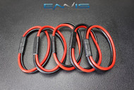 (5) 10 GAUGE QUICK DISCONNECT 2 PIN 10'' LEAD POLARIZED WIRE HARNESS AQK-12-10BG