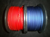 10 GAUGE SPEAKER WIRE 50 FT BLUE RED CABLE AWG STEREO CAR HOME MONSTER SUBS
