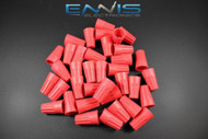 25 PCS WIRE TWIST CAP 18/10 GAUGE TERMINAL CONNECTOR SPLICE AWG RED WNRD
