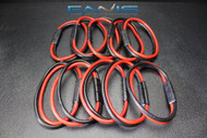 (10) 14 GAUGE QUICK DISCONNECT 2 PIN 10'' LEAD AWG WIRE HARNESS AQK-12-14BG