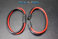(2) 14 GAUGE QUICK DISCONNECT 2 PIN 10'' LEAD AWG WIRE HARNESS AQK-12-14BG