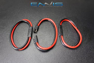 (3) PC 14 GAUGE QUICK DISCONNECT 2 PIN 10'' LEAD AWG WIRE HARNESS AQK-12-14BG