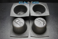 4 PCS SPEAKER BAFFLE ACOUSTIC FOAM 5'' X 7'' OVAL UNIVERSAL CAR AUDIO BASS VXT57