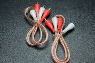 2 PCS 1.5 FT RCA WIRE AUDIOPIPE 2 CHANNEL CAR HOME AUDIO INTERCONNECT BMS-1-5M