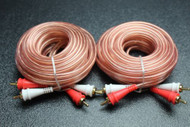 2 PCS 17 FT RCA WIRE AUDIOPIPE 2 CHANNEL CAR HOME AUDIO INTERCONNECT BMS-17