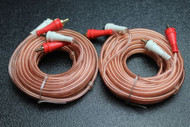 2 PCS 15 FT RCA WIRE AUDIOPIPE 2 CHANNEL CAR HOME AUDIO INTERCONNECT BMS-15