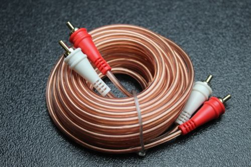 15 FT RCA WIRE AUDIOPIPE 2 CHANNEL CAR HOME AUDIO INTERCONNECT BMS-15
