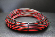 16 GAUGE RED BLACK SPEAKER WIRE 100 FT AWG CABLE POWER GROUND STRANDED COPPER