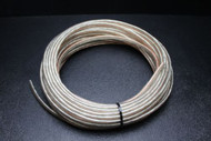 10 GAUGE CLEAR SPEAKER WIRE 25 FT AWG CABLE POWER GROUND STRANDED HOME CAR