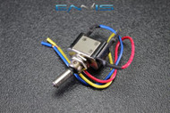 METAL TOGGLE SWITCH ON OFF BLUE LED 12V 20 AMP 3 PIN IS-EC-MT1220BLU
