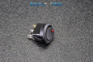 ROUND ON OFF ROCKER SWITCH MINI TOGGLE RED LED 3/4 MOUNT HOLE EC-1103ARD