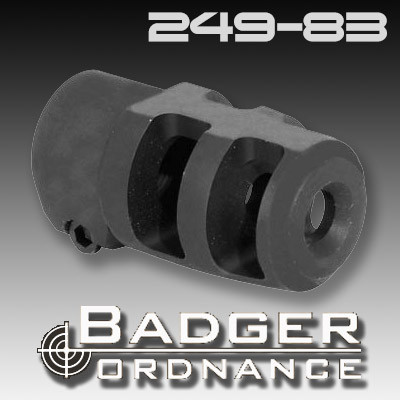 Badger Ordnance 249-83: Mini FTE Muzzle Brake, Clamp-Style 5/8-24 Thread  for  30 Caliber