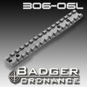 Badger Ordnance 306-06L: Remington Short Action Scope Rail Left Hand 20 MOA Cant