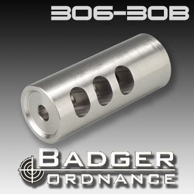 Badger Ordnance 306-30B: Thruster Compensator ( 22cal and Up 5/8-24 Thread)