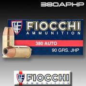 Fiocchi 380APHP: Shooting Dynamics 380 ACP 90gr Jacketed Hollow Point 50/Box