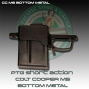 PTG CC M5 Bottom Metal: Remington 700 Short Action Colt Cooper M5 Detachable Mag Bottom Metal