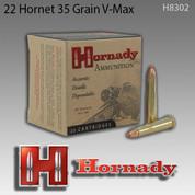 Hornady 8302: 22 Hornet 35gr V-Max 25/Box