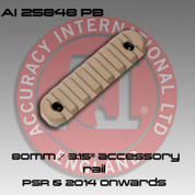"Accuracy International: 80mm / 3.15"" accessory rail Pail Brown"