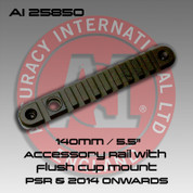 "Accuracy International 25850: 140mm/5.5"" Accessory Rail w/Flush Cup Mount Black"