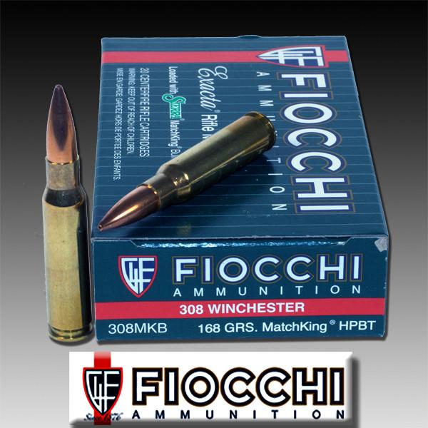 Fiocchi 308MKB: Exacta 308 Win (7 62 NATO) Sierra MatchKing BTHP 168 GR  20/Box