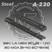 Nightforce A230: Savage L/A New Style 1pc 20 MOA Base