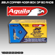 Aguila 1B222269: .22 SuperExtra Lead Bullet SUB 40gr SP 50/Box