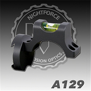 Nightforce A129: Top Ring Bubble Level w/ADI Mount
