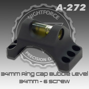 Nightforce A272: Top Half of Ring w/ Level - 34mm - 6 Screw