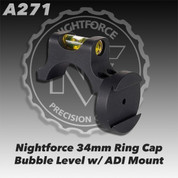 Nightforce A271: Top Half of Ring w/Level & Mount, 34mm, 4 Screw